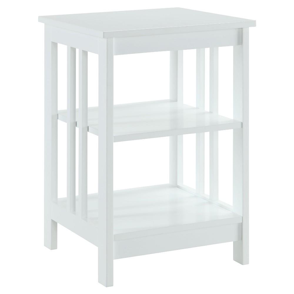 Mission End Table - White - Convenience Concepts