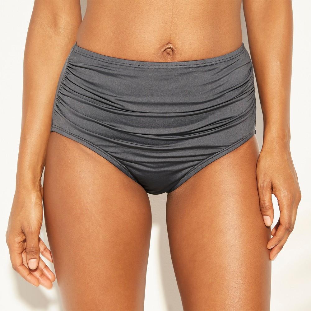Women's Full Coverage High Waist Bikini Bottom - Kona Sol Gray S