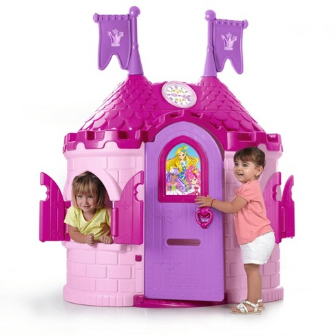 ECR4Kids Junior Princess Palace Playhouse, Pink Castle Play House  Indoor or Outdoor Play - image 1 of 4