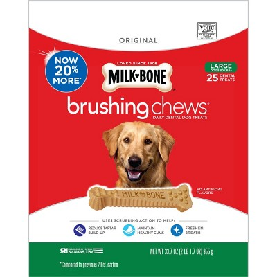 Dog Treats: Milk-Bone Brushing Chews Large