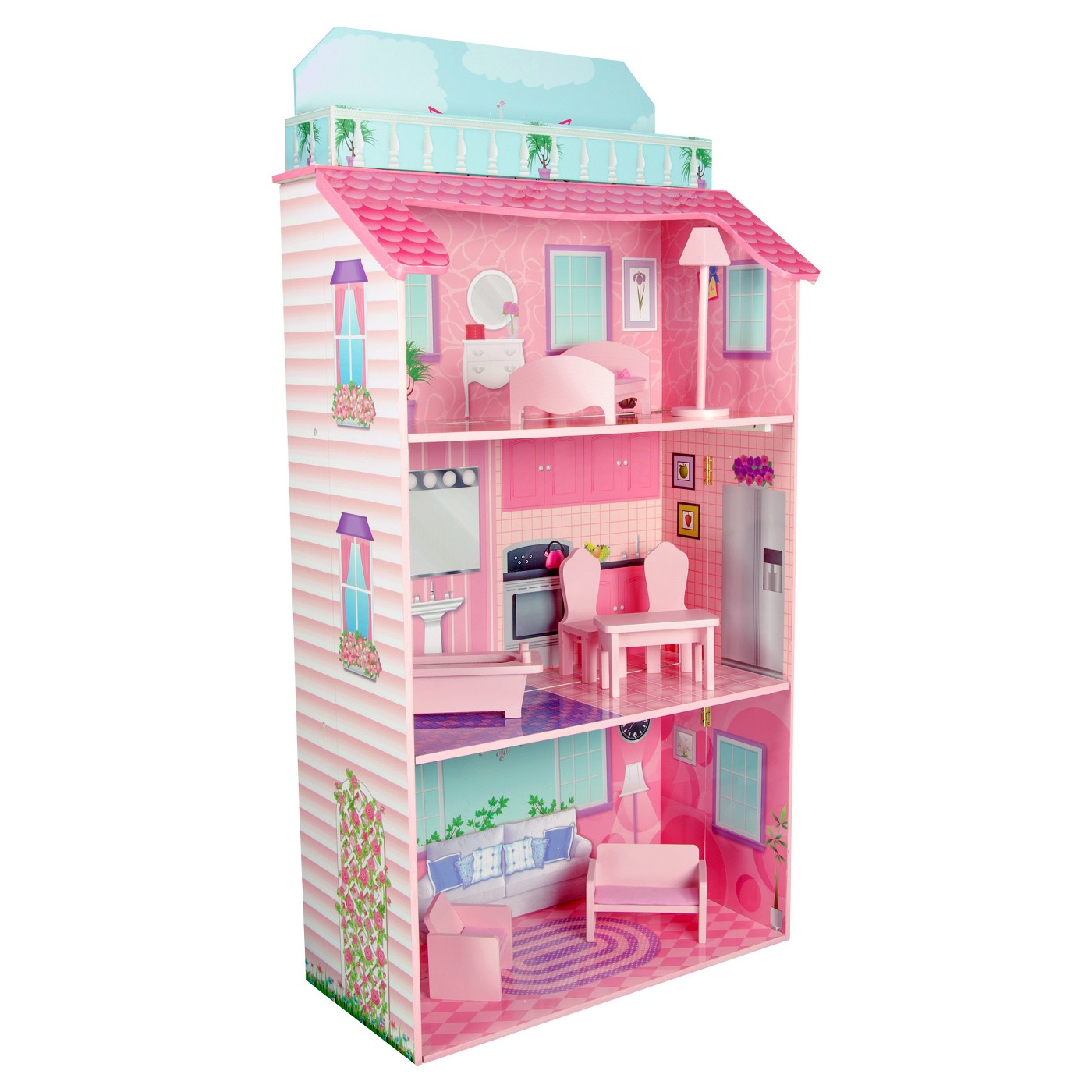 Teamson Kids Glamour Mansion Foldin Doll House - image 1 of 13