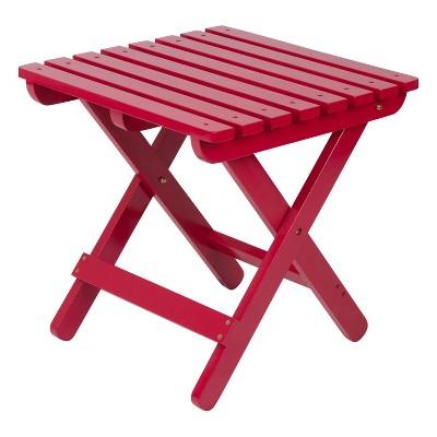 Adirondack Square Folding Table - Red