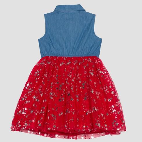 661b5876572e6 Toddler Girls' Disney Mickey Mouse & Friends Minnie Mouse A Line Dress -  Light Denim 2T : Target