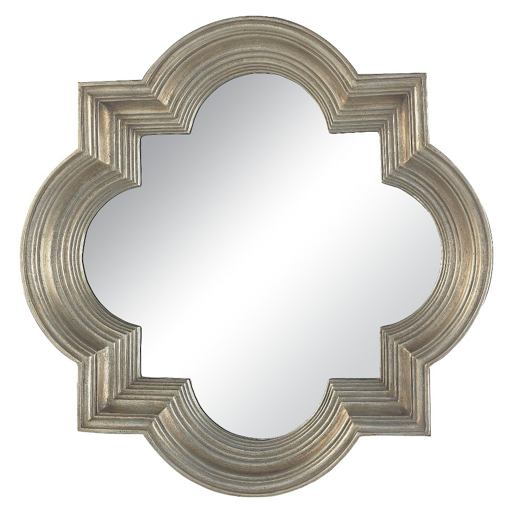 Square Beveled Decorative Wall Mirror Silver - Lazy Susan