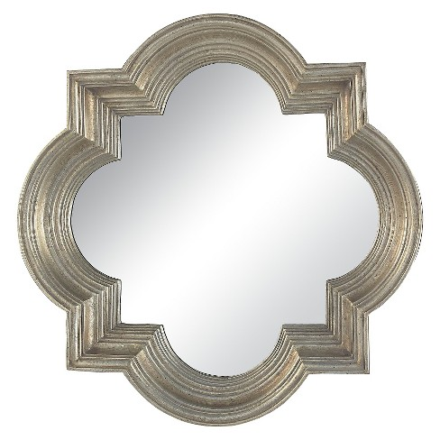 Square Beveled Decorative Wall Mirror Silver - Lazy Susan - image 1 of 2