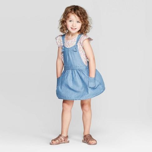 40c40340cac2 OshKosh B'gosh Toddler Girls' Pinafore - Blue : Target