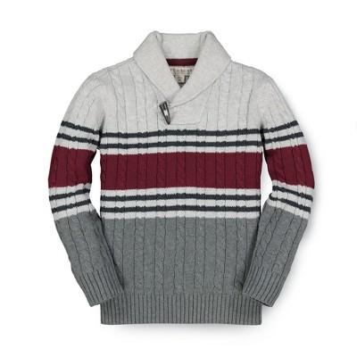 Hope & Henry Boys' Long Sleeve Shawl Collar Sweater, Kids