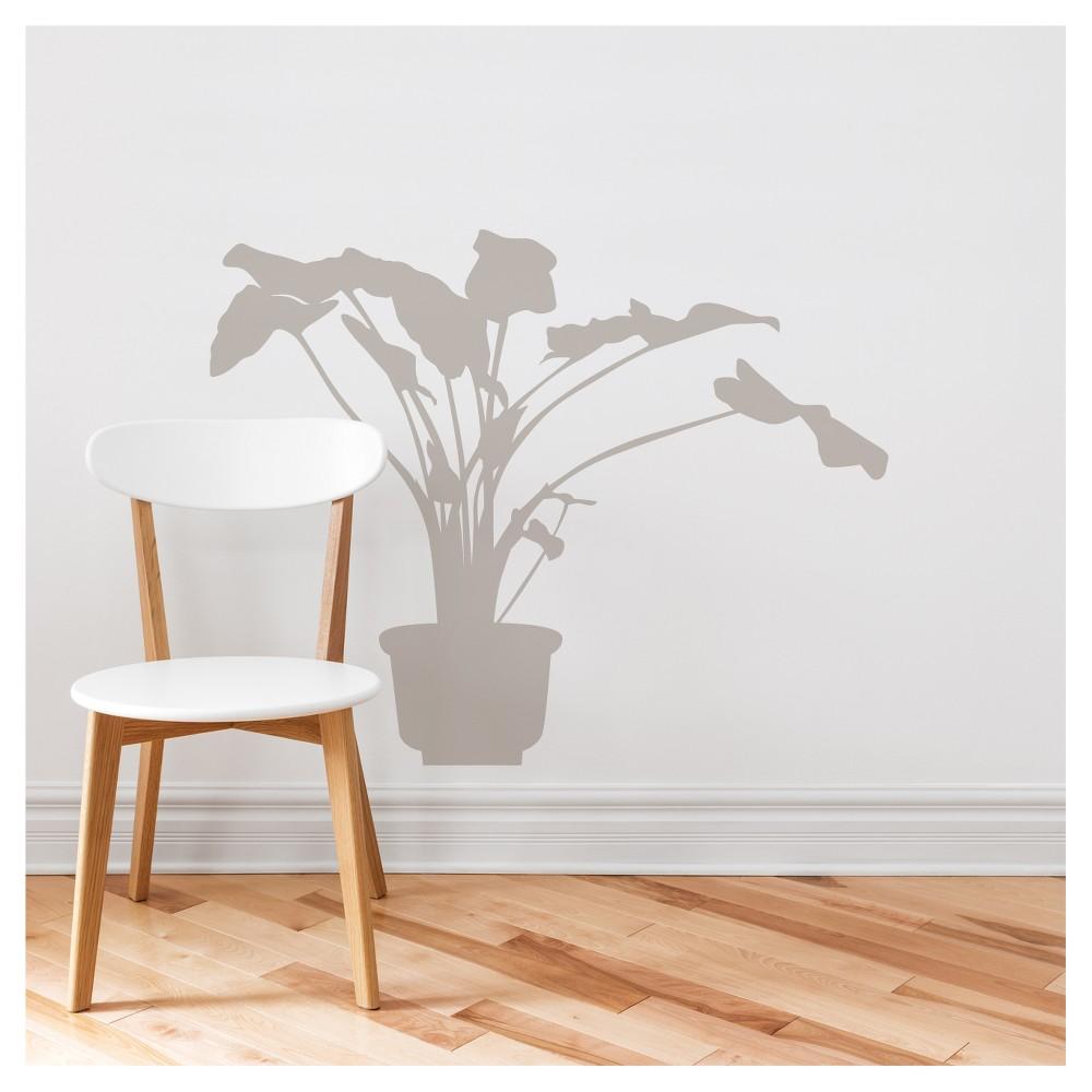 Anthurium Wall Decal - Light Gray