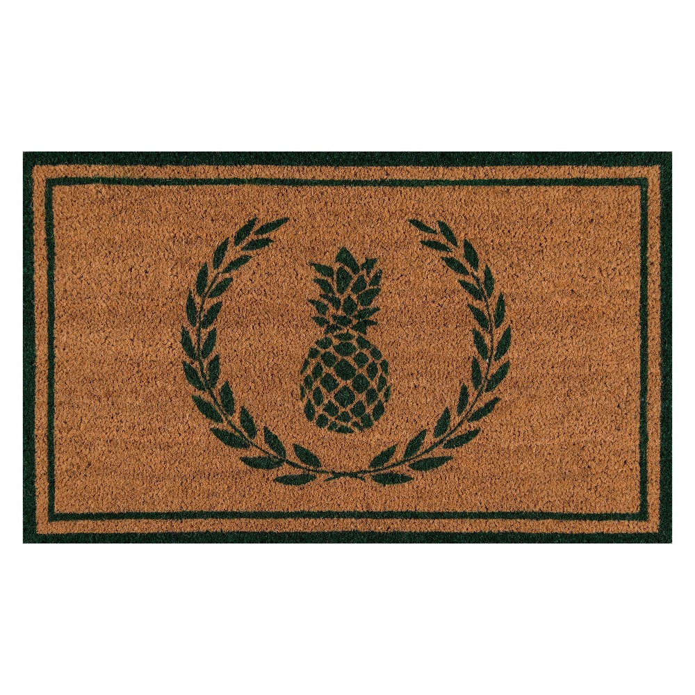 "Image of ""1'6""""X2'6"""" Fruit Woven Door Mat Green - Erin Gates By Momeni"""