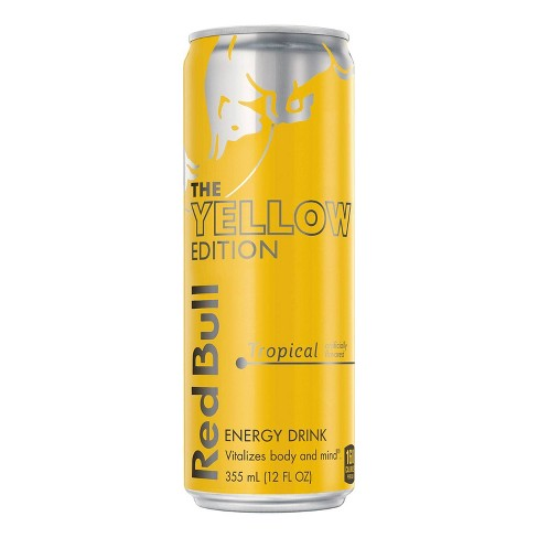 Red Bull Yellow Edition Tropical Punch Energy Drink - 12 fl oz Can - image 1 of 2