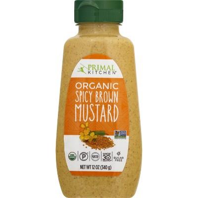 Primal Kitchen Organic Spicy Brown Mustard - 12oz