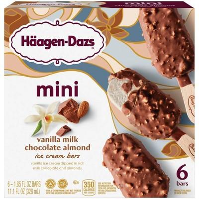 Haagen-Dazs Vanilla Milk Chocolate Almond Frozen Bars - 11.1 fl oz