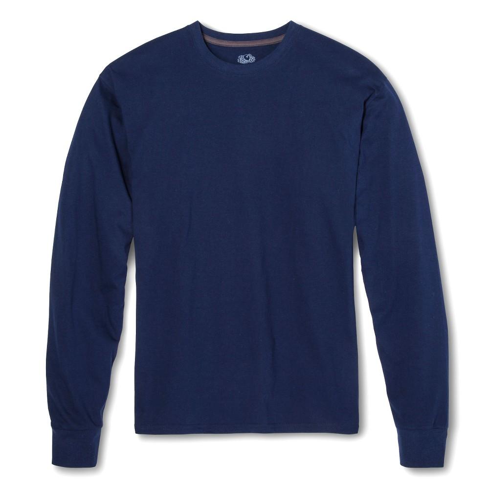 Men's Fruit of the Loom Long Sleeve T-Shirt Deep Cobalt -XL, Size: XL, Blue