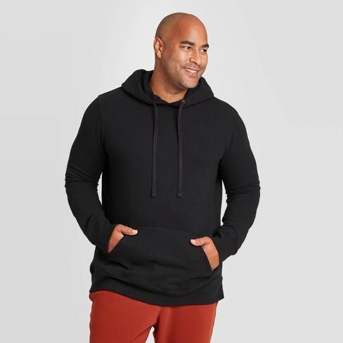 Men's Big & Tall Regular Fit Fleece Pullover Hoodie Sweatshirt - Goodfellow & Co™ Black - image 1 of 3