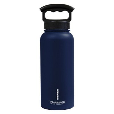 FIFTY/FIFTY 34oz Bottle With 3 Finger Grip Lid - Navy Blue