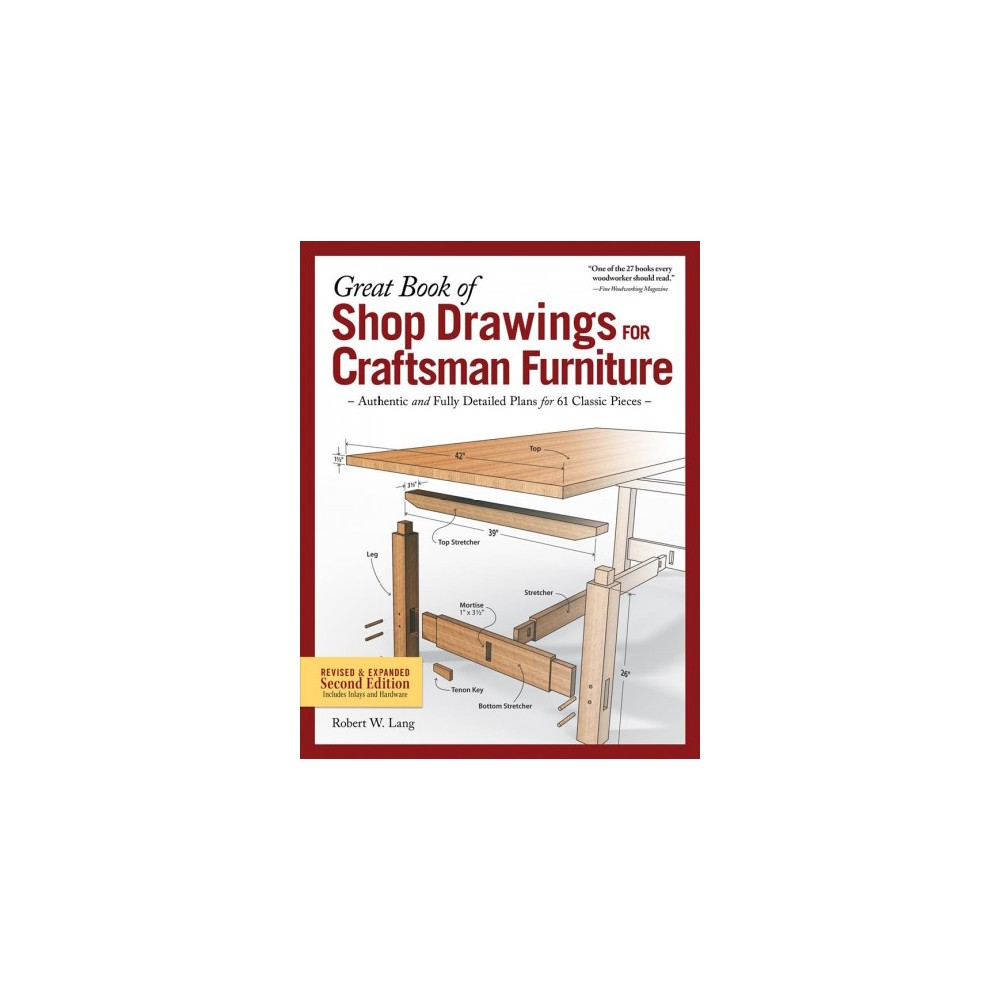 ISBN 9781565239180 product image for Great Book of Shop Drawings for Craftsman Furniture : Authentic and Fully Detail | upcitemdb.com