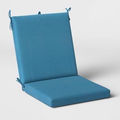 Woven Outdoor Chair Cushion DuraSeason Fabric™ Blue - Threshold™