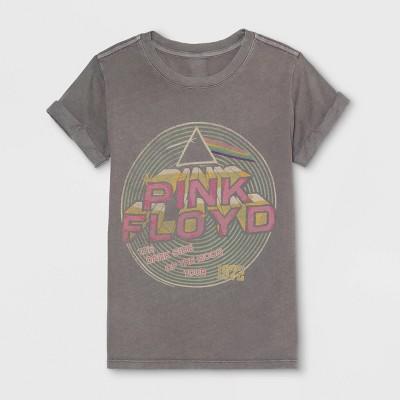 fda6b54e60 Junk Food Girls  Pink Floyd Spiral Short Sleeve T-Shirt - Gray