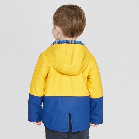 8aeee60fc Genuine Kids® from OshKosh Toddler Boys  Colorblock Rain Jacket - Mustard  Yellow Blue 12M