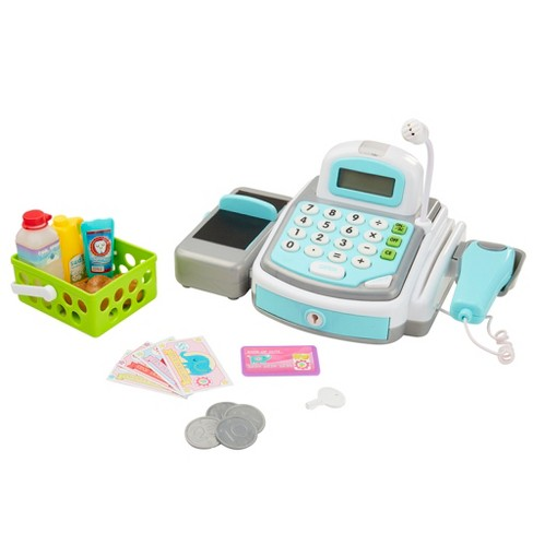 Perfectly Cute Supermarket Cash Register - Play Food & Market Accessory 19pc Set - image 1 of 4