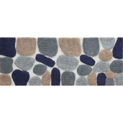 "24""X60"" Pebbles Bath Runner Gray/Blue - Chesapeake"