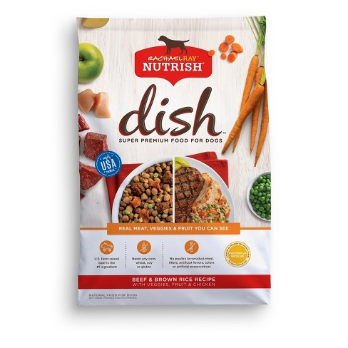 Rachael Ray Nutrish DISH Natural Dry Dog Food  Beef & Brown Rice Recipe with Veggies  Fruit & Chicken - image 1 of 2