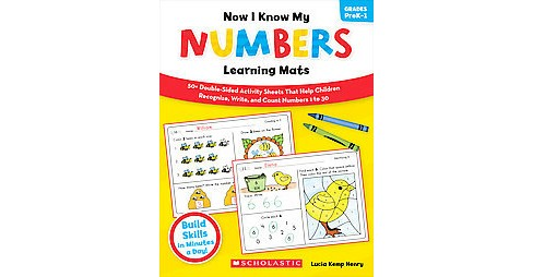 Now I Know My Numbers Learning Mats, Grades PreK-1 (Workbook) (Paperback) - image 1 of 1