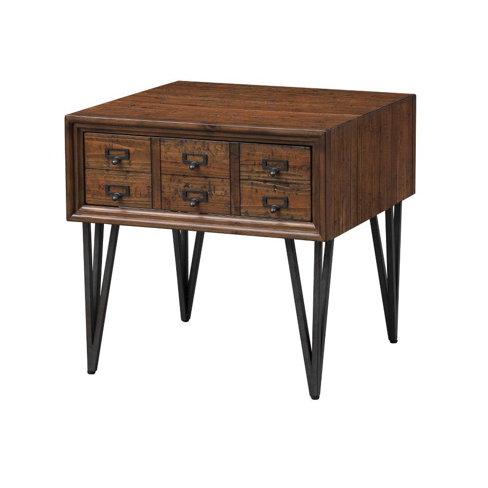 Oxford 1 Drawer End Table Brown - Treasure Trove