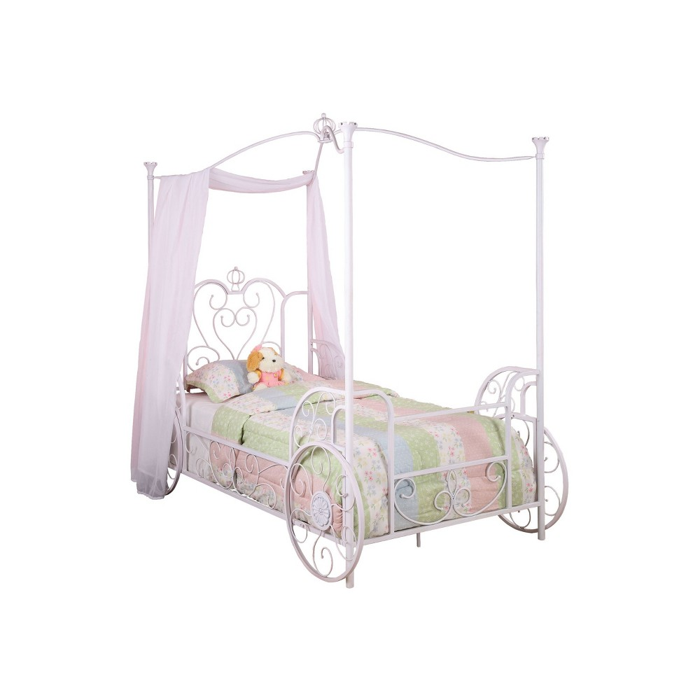 Twin Madeline Canopy Carriage Bed - Powell Company, White