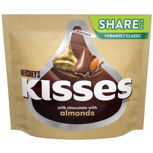 Hershey's Kisses Almond Chocolate Candy - 10oz - image 1 of 4