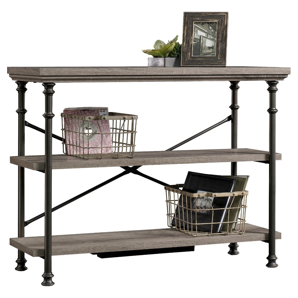Canal Street Anywhere Console Table with 2 Shelves - Northern Oak - Sauder, Brown