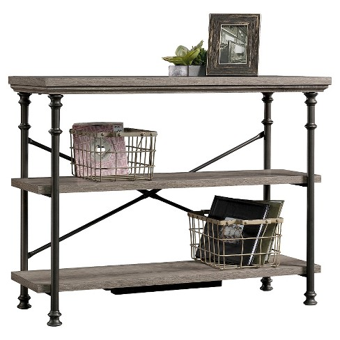console table with shelves Canal Street Anywhere Console Table with 2 Shelves   Northern Oak  console table with shelves