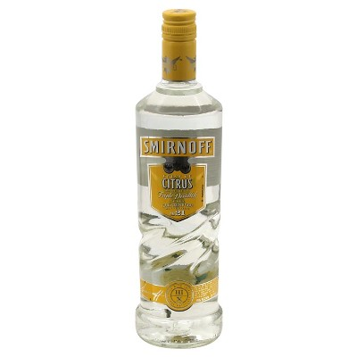 Smirnoff Citrus Flavored Vodka - 750ml Bottle