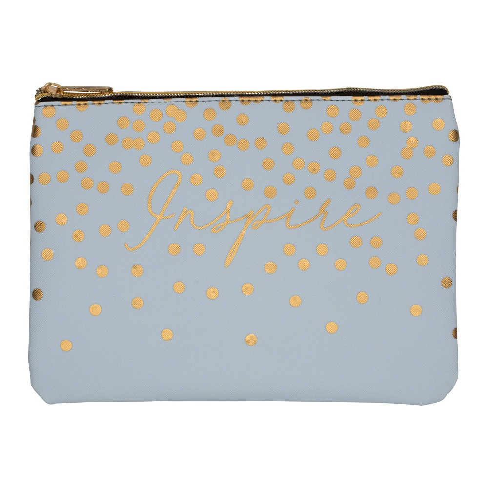 Image of Ruby+Cash Faux Leather Makeup Bag & Organizer - Inspire Cascading Dots