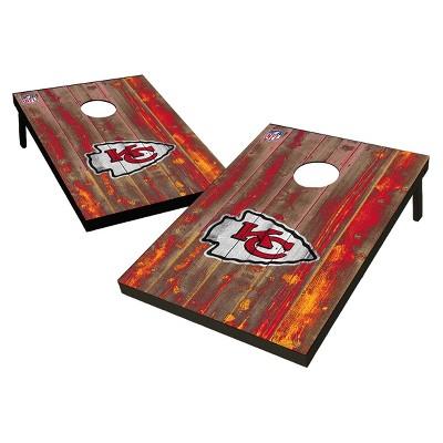 NFL Kansas City Chiefs Wild Sports 2'x3' Barnwood Bean Bag Toss