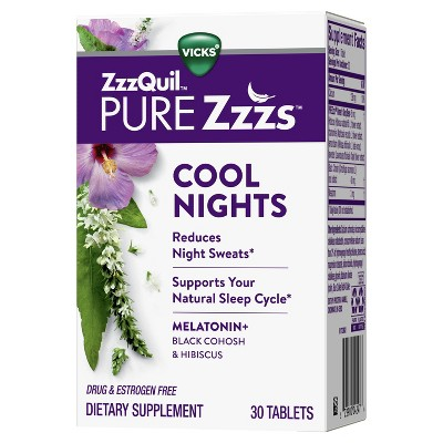 ZzzQuil Pure Zzzs Cool Nights Tablets - 30ct