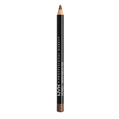 NYX Professional Makeup Slim Eye Liner Pencil - Medium Brown - 0.04oz