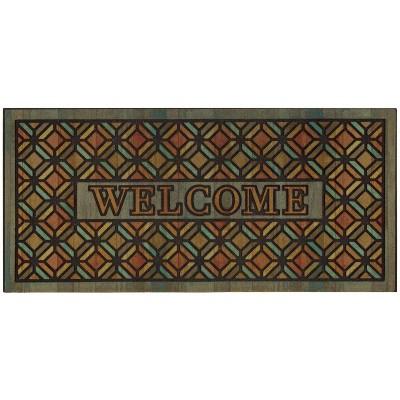 "1'7.5"" x 3'11"" Mosaic Design Doormats Sienna - Mohawk"