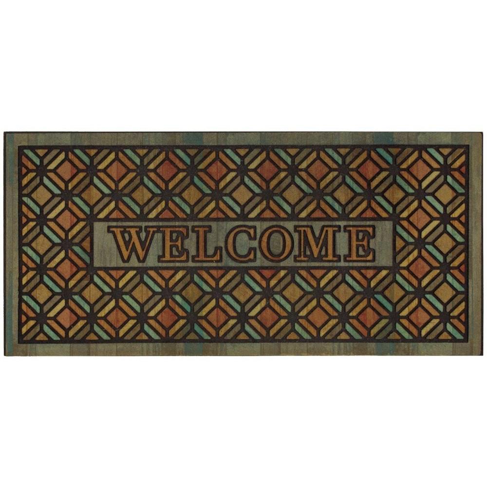 "Image of ""1'7.5"""" x 3'11"""" Mosaic Design Doormats Sienna - Mohawk"""
