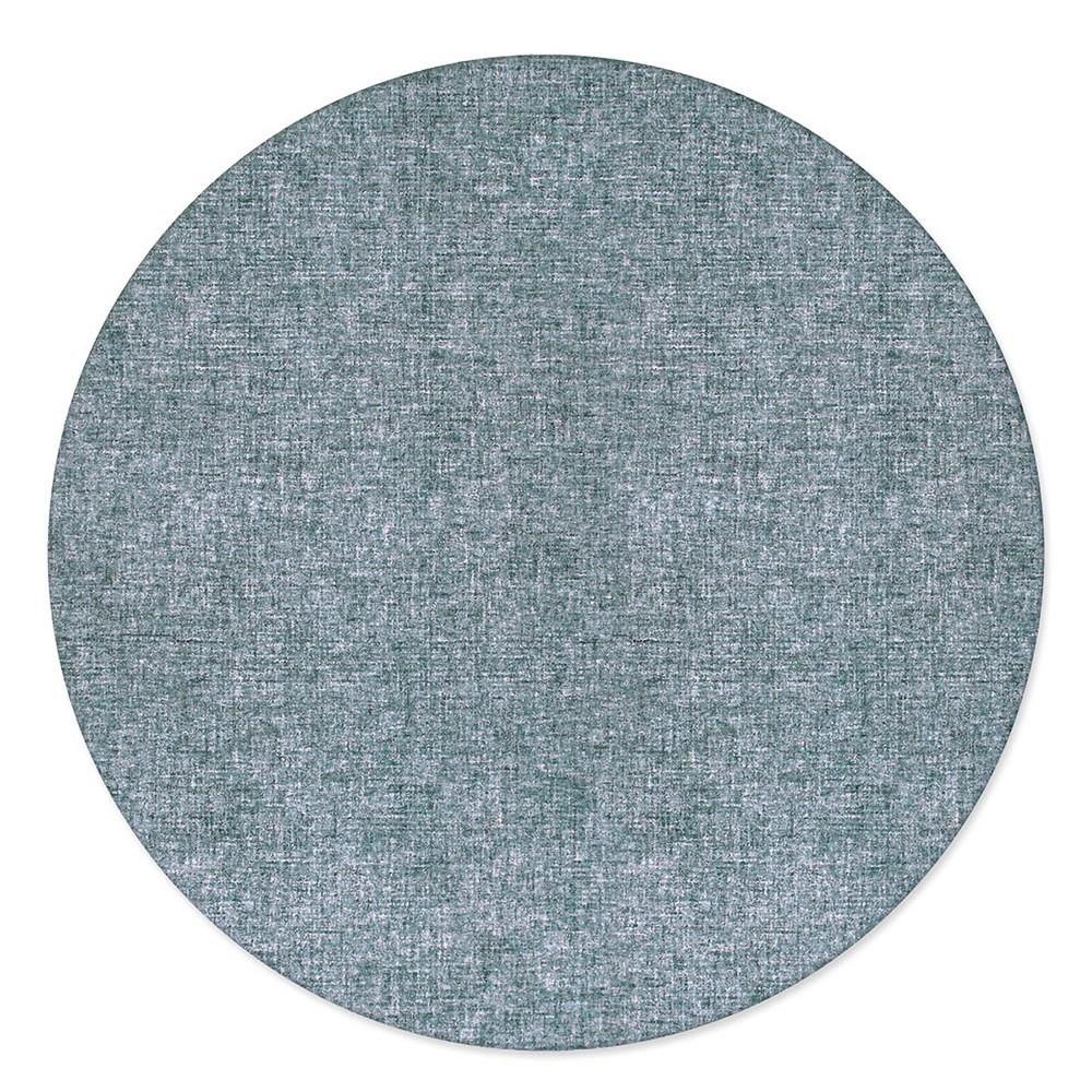 8' Solid Tufted Round Area Rug Blue - Liora Manne