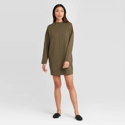 Women's Long Sleeve Mock Turtleneck Scuba Dress - Prologue™