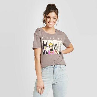 Women's Disney Villains Short Sleeve Graphic T-Shirt (Juniors') - Gray M