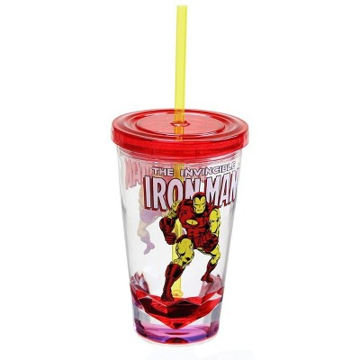 Just Funky Marvel Retro Iron Man 19oz Carnival Cup