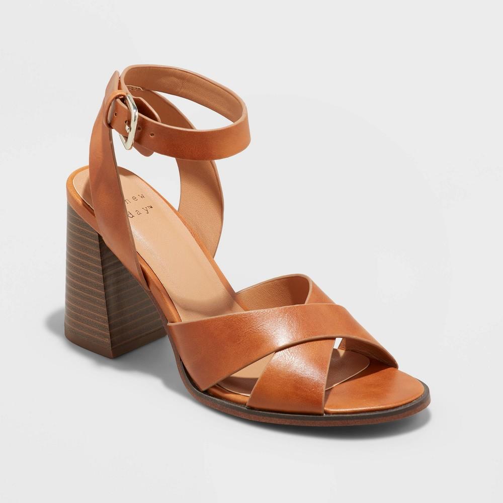 Women 39 S Juniper Sandals A New Day 8482 Cognac 5 5