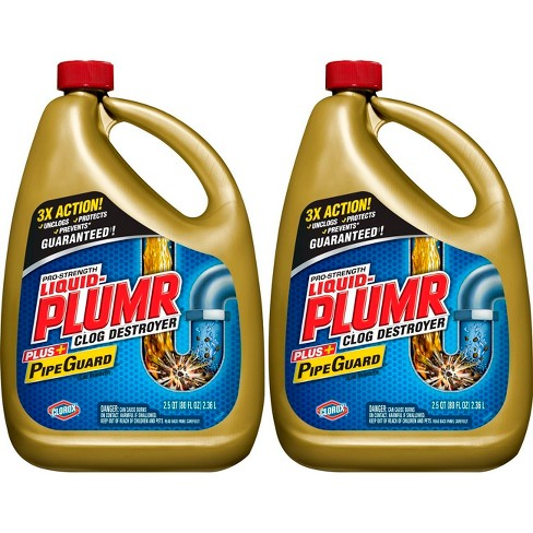 Liquid-Plumr Pro-Strength Full Clog Destroyer Plus PipeGuard - 80 fl oz/2pk - image 1 of 3