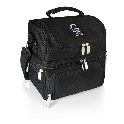 MLB Colorado Rockies Pranzo Dual Compartment Lunch Bag - Black