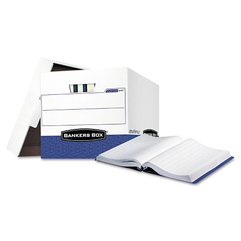 Bankers Box Data-Pak Storage Box 12 3/4 x 16 x 12 1/2 White/Blue 12/Carton 00648 - image 1 of 2
