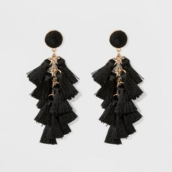 SUGARFIX by BaubleBar Multi-Tassel Drop Earrings