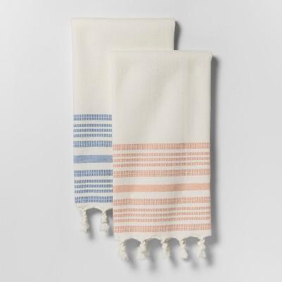 Coral Stripe Kitchen Towel - Threshold™