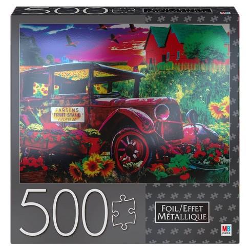 Cardinal Milton Bradley Premium Foil: Country Market Painting Jigsaw Puzzle - 500pc - image 1 of 4